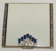 Lot:Art Deco compact with sapphires and rhinestones, Lot Number:1041, Starting Bid:$10, Auctioneer:Strawser Auction Group, Auction:Art Deco compact with sapphires and rhinestones, Date:11:00 AM PT - May 26th, 2016