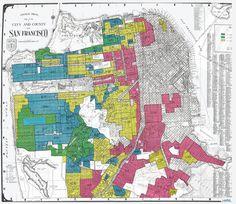 """Un projet de l'Université de Richmond sur une cartographie """"raciale"""" élaborée par le FBI dans les années 1930. Chaque faubourg est consideré attrayant ou pas en fonction de la part de la population étrangère, et particulièrement noire, qui y habite. Aux racines des actuelles fractures urbaines. http://www.slate.com/blogs/moneybox/2016/10/21/a_new_project_shows_how_redlining_emerged_from_firsthand_reports_of_the.html"""