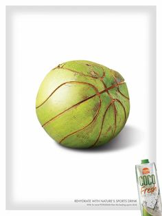 Coco Fresh: Basketball (Rehydrate with nature's sports drink. With 5x more potassium than the leading sports drink.)