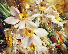 Ramil Gappasov.  Narcisos.  Óleo sobre lienzo 80x100