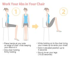 easy abs workout - now that I have a desk job! Easy Ab Workout, Desk Workout, Workout At Work, Workout Challenge, Workout Ideas, Simple Workouts, Exercise At Your Desk, Office Exercise, Office Workouts