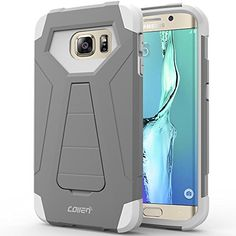 Galaxy S6 Edge Case, Collen® [Air Buffer Corners] [HEAVY DUTY] PROTECTIVE Case for Samsung Galaxy S6 Edge KICKSTAND - White-Grey A01 collen http://www.amazon.com/dp/B016UT4OXS/ref=cm_sw_r_pi_dp_0YtAwb10CDPXR