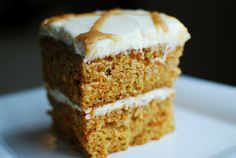 Salted Caramel Carrot Cake with Whipped Cream Cheese Frosting