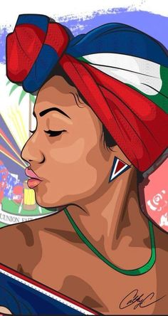 I'm throwing back to this illustration to scream Happy Haitian Flag Day! To my people,sing, dance, and be merry. Black Girl Art, Black Women Art, Art Girl, Haitian Flag, Haitian Art, African American Art, African Art, Art Haïtien, Arte Aries