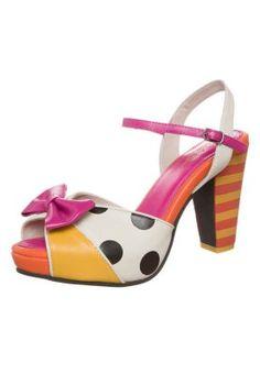 ANGIE - Sandaalit nilkkaremmillä - mulitcolor