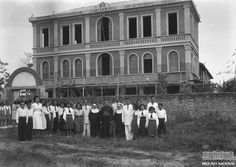 Instituto Santa Juliana, em Sena Madureira, Acre, em 4 de março de 1940. Arquivo Nacional. Fundo Agência Nacional. BR_RJANRIO_EH_0_FOT_EVE_15724_0023 Acre, Madureira, 1940, Brazil, The Past, Street View, National Archives, Filing Cabinets