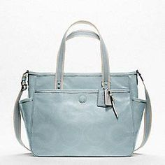 Coach :: Baby Diaper Bag Stitched Patent Tote Love it!!