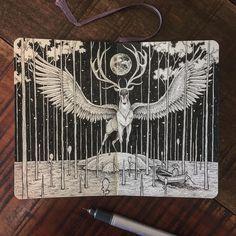 Les animaux célestes de Kerby Rosanes  Dessein de dessin
