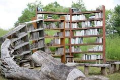 """New York Artist David Harper has created this sculpture titled """"Stacks"""", capturing the transformation of living things into stores of knowledge."""