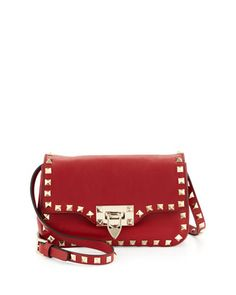 Studded Mini Crossbody Bag, Red by Valentino at Bergdorf Goodman.