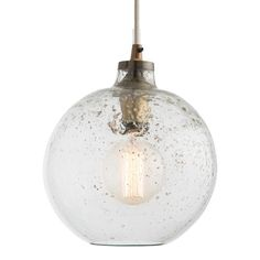 Monica Sand Infused Glass Pendant Globe Pendant Lighting Ceiling Lighting