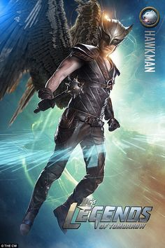 Covering the skies: Falk Hentschel returns as the mace swinging and creatively-named Hawkman