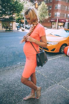 Maternity style fitted dress