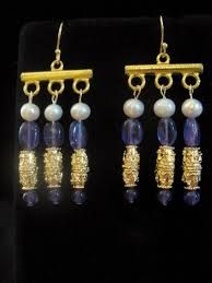 Roman-style earrings - 3-strand - Google Search