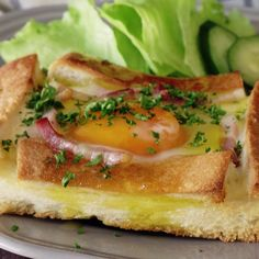 A fancy, savory twist on french toast. Mix up your carbonara routine with crunchy bread instead of pasta.