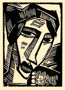 German Expressionist Woodcut