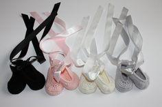 Крючком новорожденных девочек балет стиль обуви ботильоны в пользовательские цвета размеры НБ 12м готово к отправке