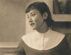 A confident young Japanese woman in modern dress and hairdo during the early Showa Period (1926-1989). Japanese women first started to experiment with Western fashion during the Meiji Period (1868-1912). By the 1920s, the trendy moga (modern girl) sporting the latest Western fashion and short fashionable hairstyles, had made her entry.