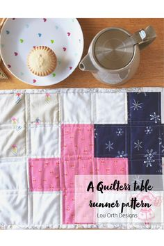 Patchwork table runner - Enjoy your favourite fabrics at your table!