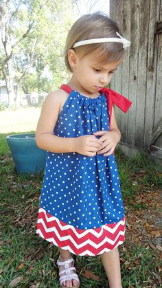 Little Girls 4th of July Pillowcase by charleyscloset31 on Etsy on sale July 2-3!