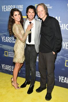Nikki Reed, Ian Somerhalder and Executive Producer Joel Bach attend the premiere of National Geographic Channel's 'Years of Living Dangerously' at the American Museum of Natural History on Wednesday, September 21, 2016 in New York City.