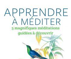 """Je vous invite à découvrir 3 magnifiques méditations guidées issues du livre """"Apprendre à méditer"""" de Bob Stahl et Elisha Goldstein.    Nous commençons par la méditation du souffle et terminons par une méditation sur l'amour et la bienveillance."""