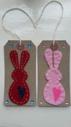Handmade by Hoppy - Bunny Gift Tags