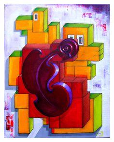 Acrylic Painting by Tom Wietrzyk
