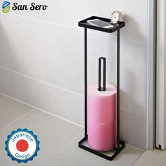 Amazon.com - BEST Toilet Paper Holder - with 5 Star Rating + Lifetime Guarantee | Japanese Design - Stores 3 X Toilet Rolls - Solid Metal Construction with Square Base for Balance - Unique Special Tray Top Design | Ships today with Amazon.com - Best Toilet Paper, Star Rating, Japanese Design, Wood Pallets, Wood Projects, Sink, Tray, Home Appliances, Construction