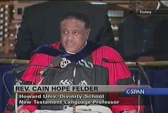 Reverend Dr Cain Hope Felder's works include the first African American New Testament Commentary True to Our Native Land;Troubling Biblical Waters: Race,Class,& Family;Editor,Stony the Road We Trod:African American Biblical Interpretation