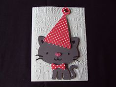 Happy Birthday Words, Cat Birthday, Birthday Cards, Dog Cards, Kids Cards, Cat Nose, Card Ideas, Gift Ideas, Craft Things
