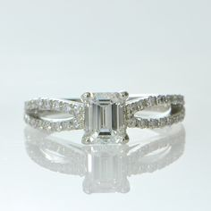 Bow engagement ring - simple yet elegant!