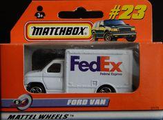 Model Matchbox Ford Van FedEx