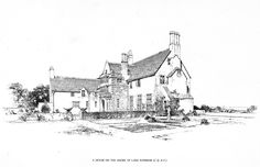 Bertram Grosvenor Goodhue, Architect (1869-1924) A House on the Shore of Lake Superior. Pen & Ink Rendering