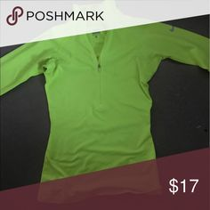 Nike Dri-Fit Half Zip This top is so fun! It's neon green and perfect for nightly runs. Size XS but can fit a small. Nike Tops Sweatshirts & Hoodies