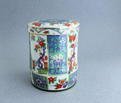 Vintage Chinoiserie Tea Tin on Etsy, $10.00