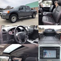2013 'Grey' Nissan Titan PRO-4X  4x4.  BLUETOOTH. LEATHER. NAV. TONNEAU. BEDLINER. TOW. Stock 18154A. Click pic for more info.