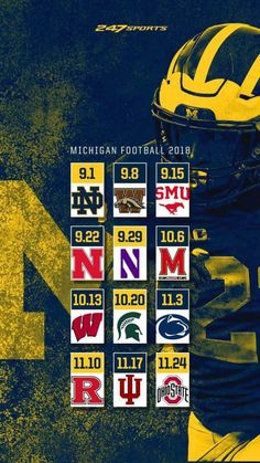 2018 Colleges In Michigan, University Of Michigan, Football Season, Football Team, Football Stuff, Michigan Quotes, Football Presents, Michigan Go Blue, Michigan Wolverines Football