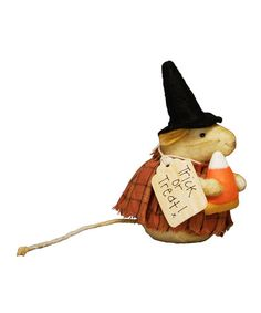 Take a look at this Mrs. Witchy Mouse Figurine by Primitives by Kathy on #zulily today!