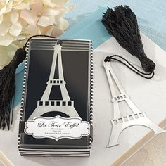 (20 pieces/lot)Korea Style Wedding Favors Gifts Exquisite Box Package Fashion Eiffel Tower Bookmark for Wedding Souvenirs #Affiliate