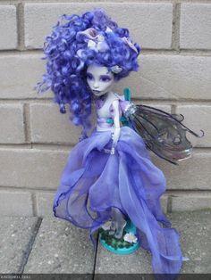 monster high custom repaint Hyacinth fairy by ~Rach-Hells-Dollhaus on deviantART