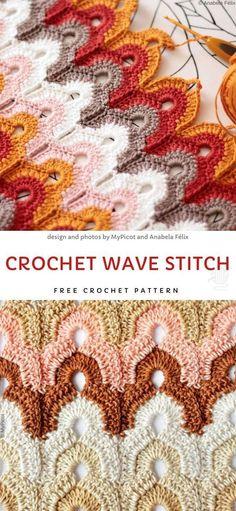 Crochet Stitches Patterns, Crochet Afghans, Crochet Designs, Stitch Patterns, Unique Crochet Stitches, Knitting Patterns, Chevron Crochet Patterns, Different Crochet Stitches, Crochet Stitches Free