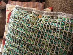 Busy fingers, busy life...: Learn to Crochet Tunisian Style: Pillow cushion cover