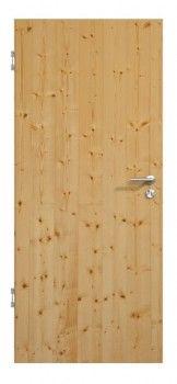 Ein echtes Schwergewicht unter den Massivholztüren: Die Premium-TG-1 mit glattem Türblatt aus 100% Echtholz. Hier in Fichte astig/geölt, weitere 13 Holzarten und 18 Oberflächen auf deineTuer.de