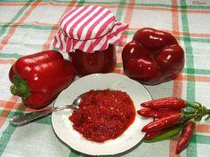Katalin konyhája: Paprikakrém Jar Gifts, Kitchen Hacks, Stuffed Peppers, Homemade, Canning, Vegetables, Food, Red Peppers, Gift Jars