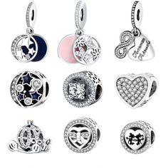 6.34$  Watch more here - Fit Pandora Charm Bracelet Original 925 Silver Charms Bead  Daisy Openwork Charm With Clear Zircon Jewelry Berloque 2016 Winter   #bestbuy