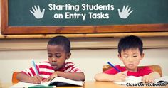 Entry tasks get elementary students quickly engaged in learning while you take attendance. How to make the most of your morning routine. No time to waste!