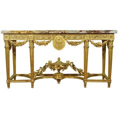 A carved giltwood neoclassical console table, late 18th/early 19th... ❤ liked on Polyvore featuring home, furniture, tables, accent tables, jewelry table and jewelry furniture