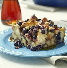 Um, yum! Blueberry Bacon Bread Pudding @Dabble Mag