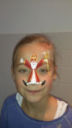 6 december Christmas Face Painting, Saint Nicolas, Face Art, Four Seasons, Body Painting, December, Makeup, School, Crafts